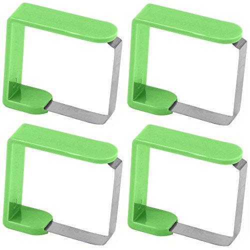 Promobo Tischdeckenklammern, Grün, 4Stück