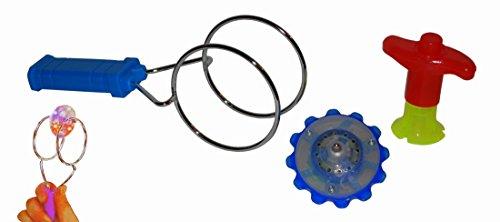 Spinning Gyro Leuchtender Magischer LED Magnet Kreisel Kinetik Motorik