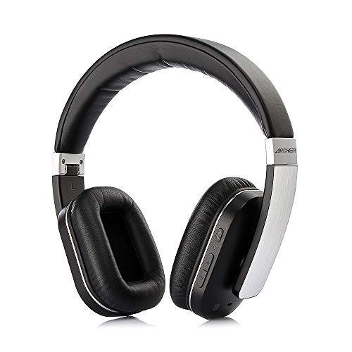 bluetooth Kopfhörer Over Ear Headset Stereo mit AptX, Eingebautem Mikrofon, Zusammenklappbares Design mit On-Ear-Steuerung 14 Stunden Spielzeit für PC iPhone Android Smartphone - Apple Bluetooth Headset Review