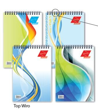 YOUVA Top Wiro Bound Note Book Pads A5 Size 160 Pages (Set of 3)