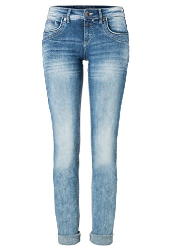 Timezone Damen Straight Jeans Slim Tahila Blau (Light Sky Wash 3152)