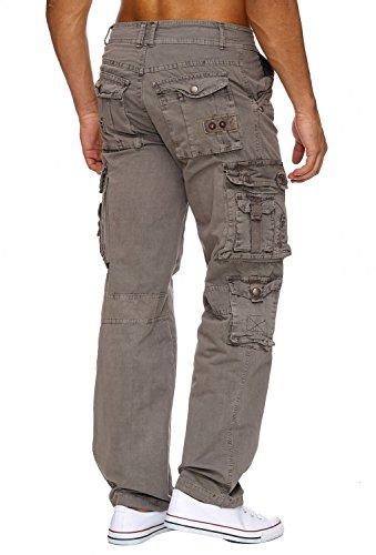 Pantalons Jeans Cargo RANGER Nr.1612 Straight Fit pour hommes (100% coton) Grau