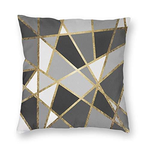 THsirtee Black & Gray Modern Geo Gold Triangles Dekokissen Fall Platz Kissenbezug Kissenbezug Protektoren Für Sofa Bank Couch Autositz Bett 22