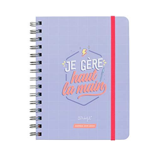 Calendario Mr Wonderful 2020.Mr Wonderful Sketch 2019 2020 Weekly Diary Je Gere Haute La Main French Language