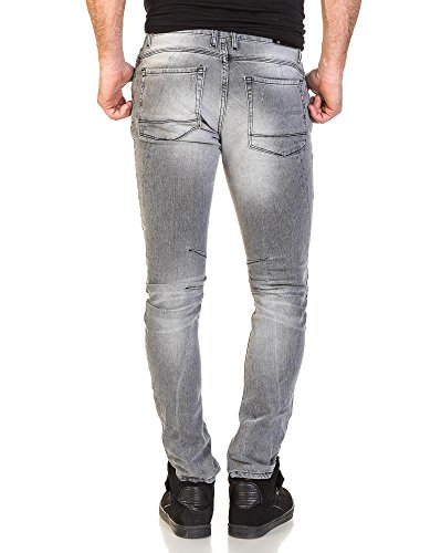 Republic Denim - zerrissene dünne graue Jeans Mann Grau