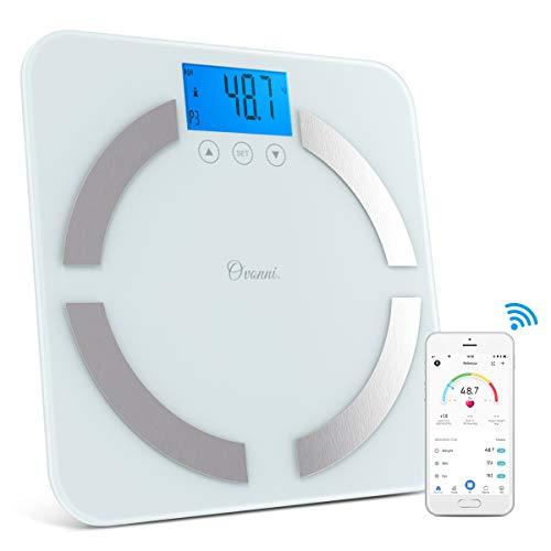 Bascula Baño Digital Eléctrica para Pesar Personas, Análisis Profesional de Masa Corporal, Bascula Inteligente con Bluetooth y App Smart