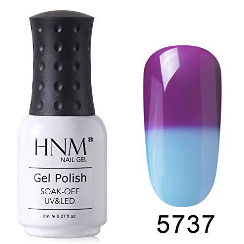 HNM Gel Vernis Semi-Permanent de Couleurs Changeantes Vernis à ongles UV LED Soak Off Manucure 8ML HNM-5737