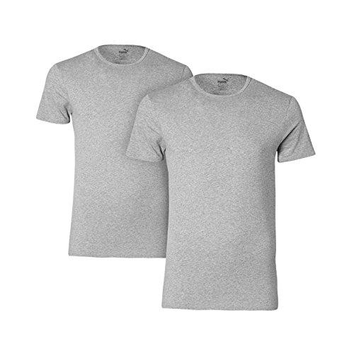 Puma manica 4Pack T-shirt girocollo manica corta girocollo Uni PUMA S-XL - selezione di colore Grau