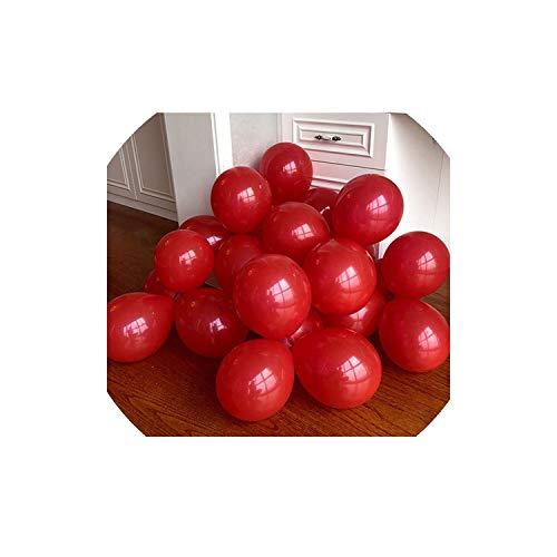 Strawberryran Luftballons 10Pcs Rose Gold Confetti Latex Hochzeit Dekoration Partybedarf, Matte D23 Rot, 1G 5Inch Mini