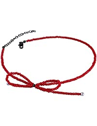 Aooaz Womens Collar Choker Necklace Stainless Steel Velvet Round Crown Double Layers Cord Black Gold