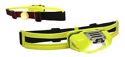 Stirnlampe mit Rücklicht zum Joggen extrem leicht - NiteView Trail Runner - inkl. Neopren-Lauftasche | Stirnlampe zum Laufen für Jogger