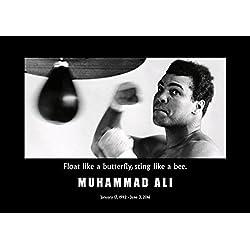 Póster motivador con frases de Muhammad Ali. Otro diseño de uno de los más grandes.