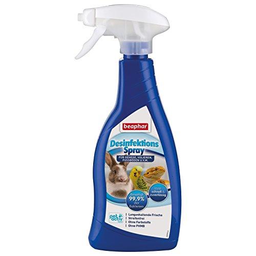 Desinfektionsspray | Beseitigt 99,9 % der Bakterien | Streifenfreies Desinfektionsmittel | Für Umgebung von Nagern & Vögeln, z.B. Volieren | 500 ml -