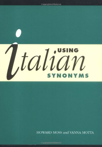 Using Italian Synonyms Paperback