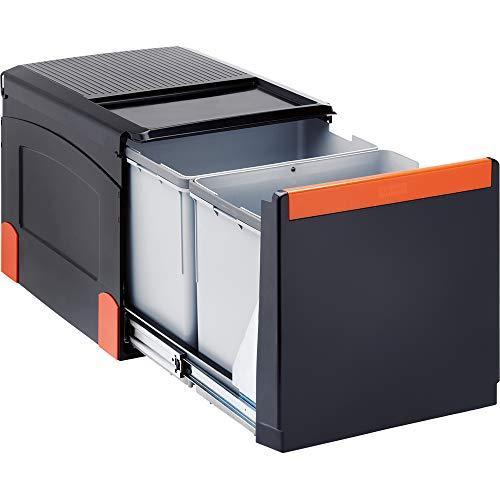 Franke Kitchen Systems Sorter von Abfällen Cube 41 134.0055.270, 34,1 x 47,5 x 33,5 cm, Schwarz