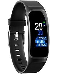 Smartwatches MK04 Monitor de Frecuencia Cardíaca Reloj Inteligente Deportes Presión Arterial Podómetro Correr IPS Touch Impermeable