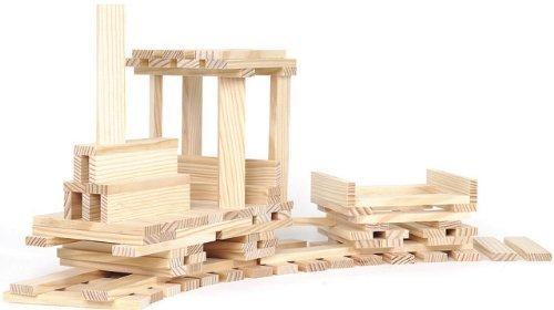 Kapla 100er Box Original Holz Bausteine Plättchen Klötze