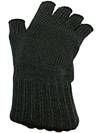 Ladies Super Soft Warm Fine Knit Thermal Fingerless Winter Gloves