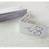 Bigliettini tag personalizzati matrimonio Tema CUORI 1 SET composto da 100 pz