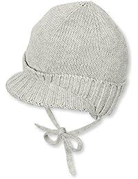 Sterntaler - Bébé garçon doublé Beanie casquette, gris