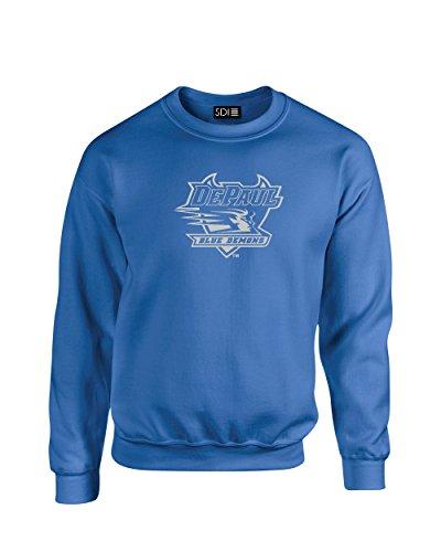 SDI NCAA Mascot Foil Crew Neck Sweatshirt, königsblau, XX-Large