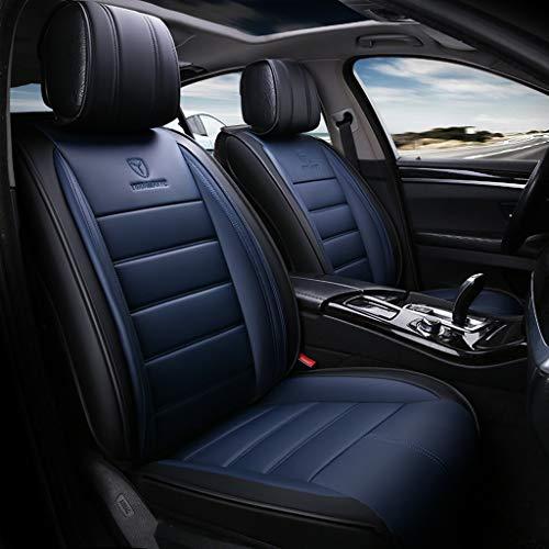 Yunchu PU-Leder Universal Car Seat Cover 5 Sitze Full Set verschleißfeste wasserdichte Auto-Sitzkissen Innenzubehör Auto sitzbezüge (Color : Blue, Size : Standard)
