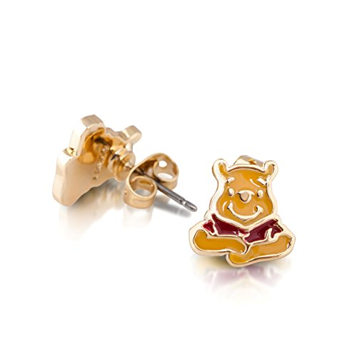 Disney Couture oro esmalte Winnie the Pooh Stud Pendientes