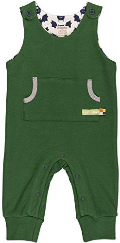 loud + proud Unisex Baby Strampler Uni Grün (Pine Pin), 80 (Herstellergröße: (Strampler Grüner)
