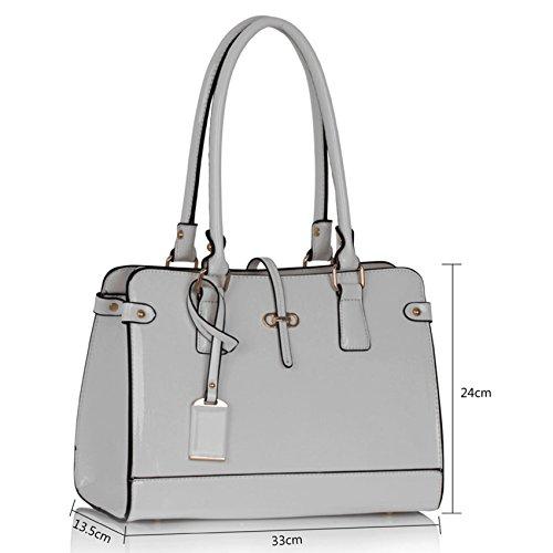 TrendStar Frauen Designer Taschen Patent Schulter Berühmtheit Stil Trage Damen Mode Handtaschen (C - Rot) Weiß1