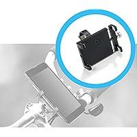 Smartphone Fahrrad-Halterung Bike Holder 360° drehbar - für Samsung Galaxy J3 / J5 / J7 / J8 / X-Cover / ( 2016 / 2017 / 2018 ) - aus Aluminium - SCHWARZ