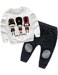 SMARTLADY 2-6 años Niño Niña Otoño/ Invierno Ropa Conjuntos,Sudaderas + Pantalones