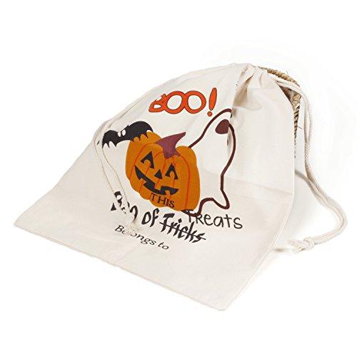 chen Süßes sonst gibt's Saures Süßigkeiten Taschen Griffe Geschenksäcke Kürbis Taschen für Kinder Geschenke (Einfache Halloween-aktivitäten Schreiben)