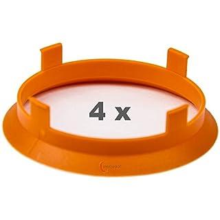 4 x Zentrierringe 60.1 mm auf 58.1 mm orange