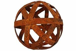 Rost kugel 20 cm blechstreifen deko dekoration edelrost for Kugel rost garten