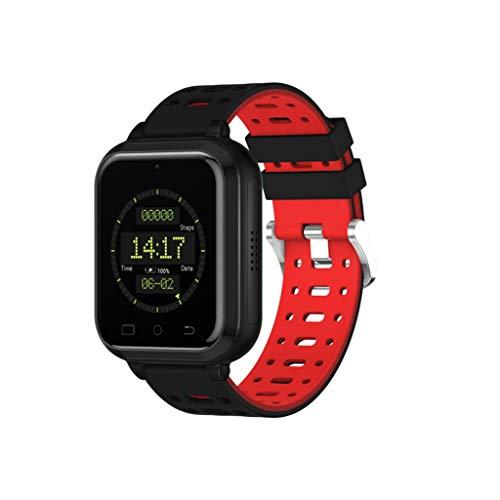 FFHJHJ Intelligente Uhr QuadratSmartwatch mit Pulsmesser Blutdruck 720mAh Akku 2MP Kamera 1,54 Zoll MTK 6737 PK Q1 pro H5 M11 X6-in Smartwatches, schwarz rot