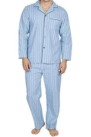 Hombre Perchado 100% pura% Pijama De Algodón Cálido De Invierno Franela Térmico M L XL XXL: Amazon.es: Ropa y accesorios