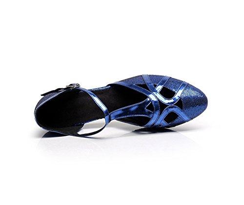 Minitoo, Scarpe da ballo donna Blue-6cm Heel