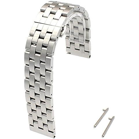 Rerii 22mm ancho correa de acero inoxidable reloj banda con pasadores de liberación rápida para moto 360246mm/Samsung Galaxy Gear 2, Neo, vivir/LG G Watch, R, Urbane/Asus Zenwatch 1y
