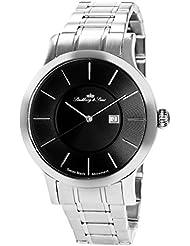Lindberg & Sons LSSM301 - Reloj para hombre de cuarzo con correa de acero inoxidable color plata