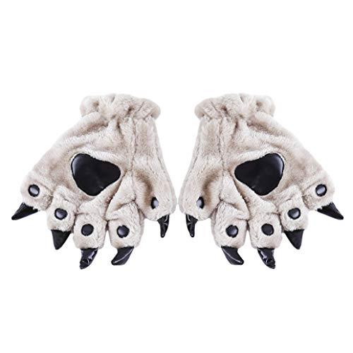 KISSFRIDAY Cosplay Handschuhe Tierkostüm Dinasour Cat Paw Claw Wolf Handschuhe ()