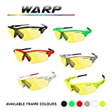 VeloChampion Warp Cycling Sunglasses Running Shooting Sports Glasses - Red Bild 6