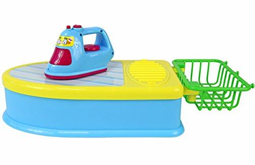 Preisvergleich Produktbild Nick and Ben Kinder-Set Bügelstation Bügel-Eisen Bügel-Brett Wäschekorb passend zur Kinder-Küche Bügel-Geräusche