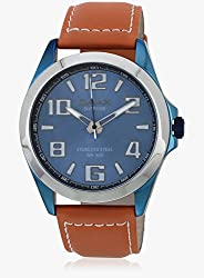 OMAX Analog Blue Dial Mens Watch - SS141