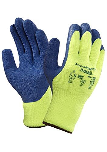Ansell PowerFlex 80-400 Gants pour usage spécifique, protection mécanique, Bleu, Taille 11 (Sachet de 12 paires)