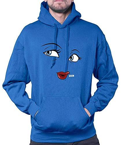 Kostüm Kind's Prinz Royal - HARIZ Herren Hoodie Milch Und Schokolade Mädchen Partner Kostüm Karneval Kostüm Inkl. Geschenk Karte Royal Blau L
