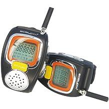 Easypix OkiDoki - Walkie-Talkie (reloj, funcion VOX, multifrecuencia), color negro