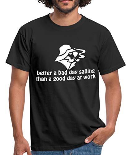 Spreadshirt Segel Spruch Sailing Segeln Spruch Männer T-Shirt, M, Schwarz