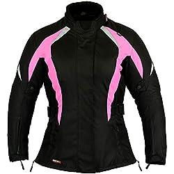 Chaqueta Protección Para Mujer Motos Mujer Impermeable Rosa Talla L