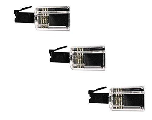 Network Trading® Rotating 360 Telephone Cord Detangler, Pack of 3 Clear/Black Handset Cord Detangler