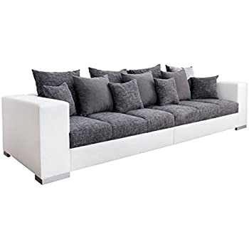 Xxl sofa mit bettfunktion  Big Sofa Weiss Grau. Interesting Big Sofa Schwarz Wei Grau Meliert ...
